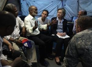 Haiti's president narrowly missed injury in quake