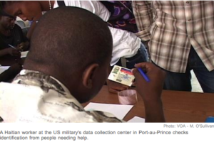 US Military Center Assesses Haitian Needs