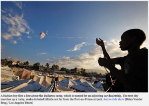 A day in the life of a Haiti tent city -The Daihatsu camp in Port-au-Prince arose on its own and still awaits adequate aid. 'You have to have faith,' one resident says.