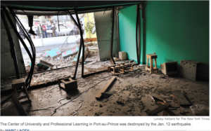 Education Was Also Leveled by Quake in Haiti