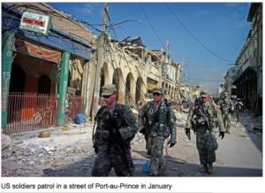 US reduces troop numbers in Haiti