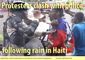 Protesters clash with police following rain in Haiti With COMMNETARY By Haitian-Truth Below article