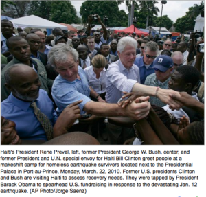 Presidents Bush, Clinton visit devastated Haiti-Added COMMENTARY By Haitian-Truth