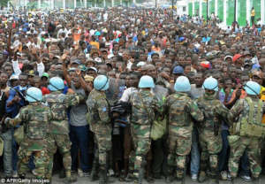 5000 DUVALIERISTS MARCH IN PETIONVILLE