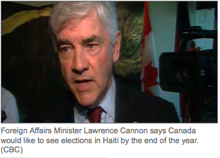 Canada presses for Haitian elections