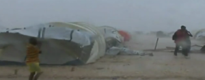 STORM RIPS THROUGH TENT CITY -Video Footage