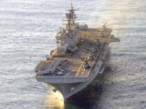 USS Iwo Jima Stops In Miami On Way To Haiti