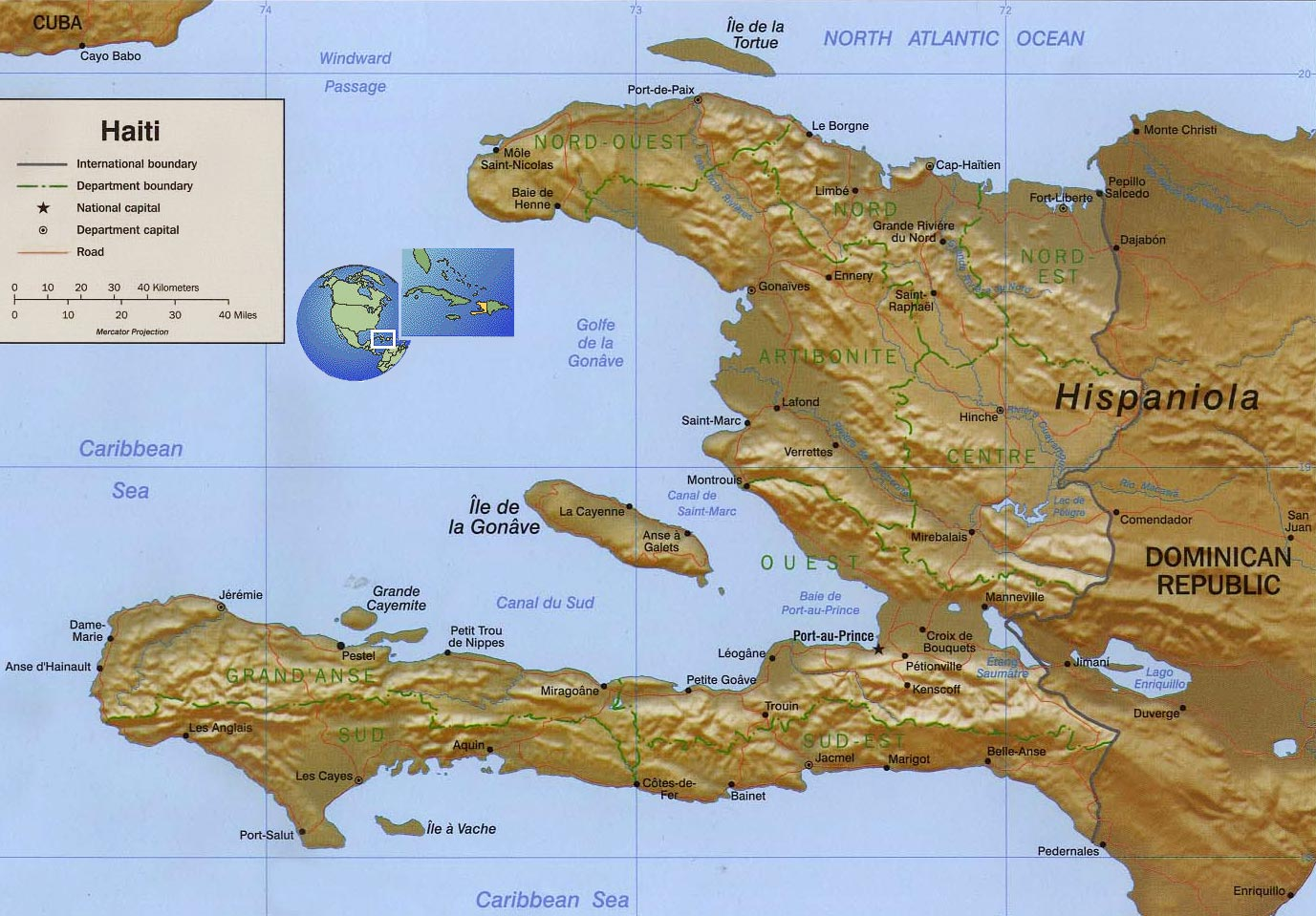 Haitimap HAITIANTRUTHORG Proud To Be Haitis Most Informative - Haitian map