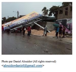 Flash ! Flash ! Port-au-Prince frappée par une tornade destructrice.