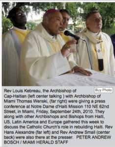 QUAKE AFTERMATH | HAITI'S CATHOLIC CHURCH Bishops plan rebirth for Haiti's church