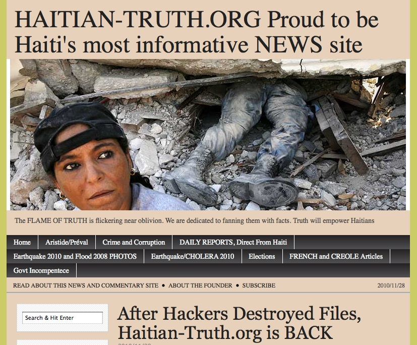 After Hackers Destroyed Files, Haitian-Truth.org is BACK