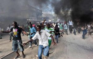 Violentes  protestations à St-Marc : La MINUSTAH  fait une quinzaine de blessés, dont six par ball