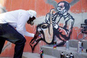 Graffiti reflects hope in Haiti