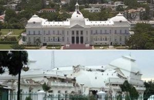 Le palais national en voie de restauration