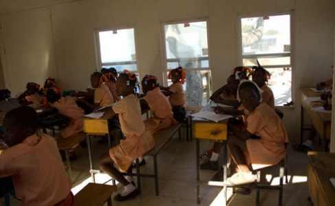 Children inside Saint-Therese de Darbonne School