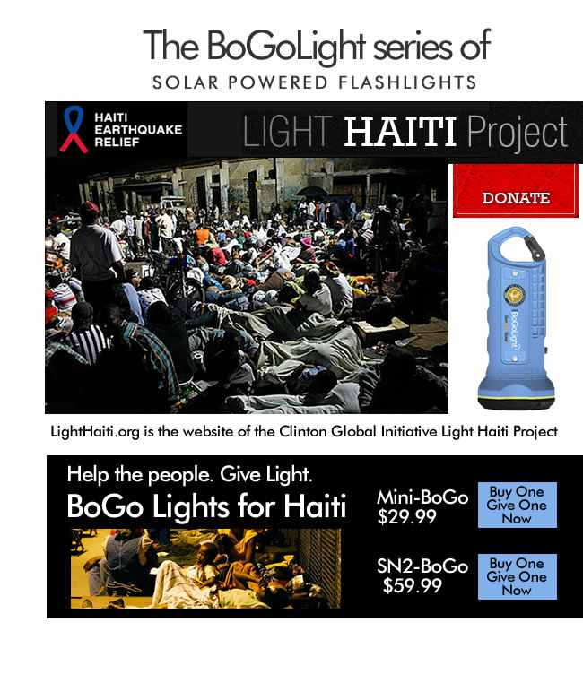 The BoGoLight series of SOLAR Powered Flashlights-Added COMMENTARY By Haitian-Truth