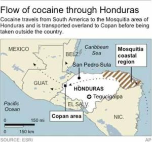 Honduras becomes Western Hemisphere cocaine hub