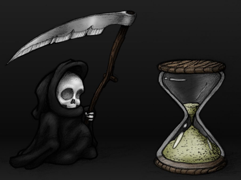 Gothic Hourglass Drawing