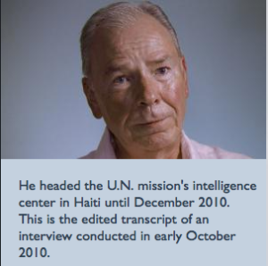INTERVIEW WITH RAY BAYSDEN-Describe the security situation after the earthquake on Jan. 12, 2010. How did it change?