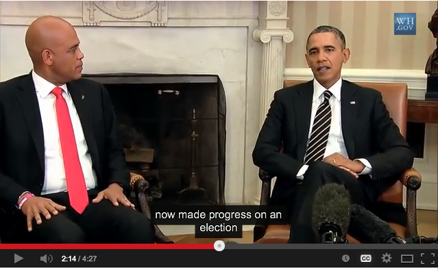President Obama's Bilateral Meeting with President Martelly