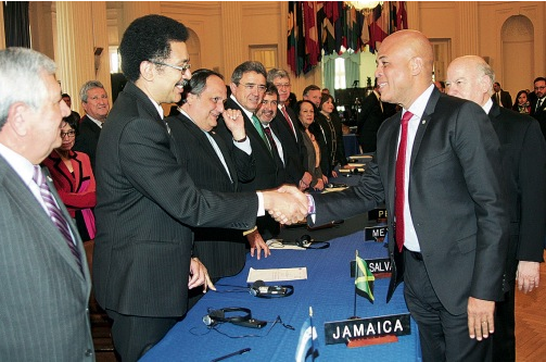 Martelly gives OAS update on Haiti
