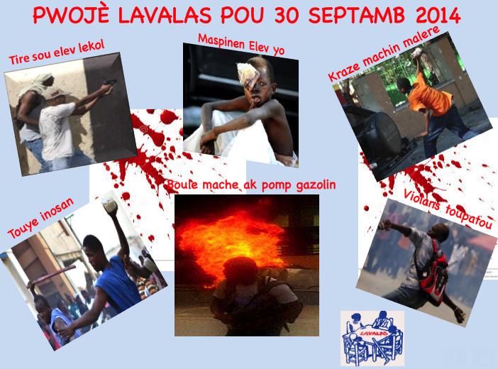 Foto*** Plan Lavalas la pou 30 Septamb 2014
