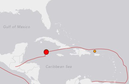EARTHQUAKE HITS M 5.2 – 43km S of George Town, Cayman Islands
