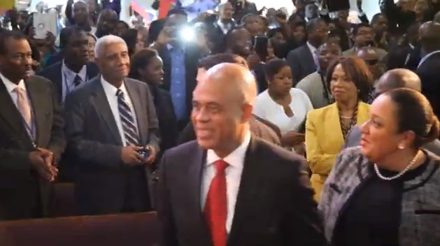 Flash: SEM Michel Martelly accueilli chaleureusement à New York
