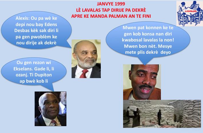 Lè Lavalas la tap dirije pa dekrè an Janvye 1999 apre ke manda palman an te fini