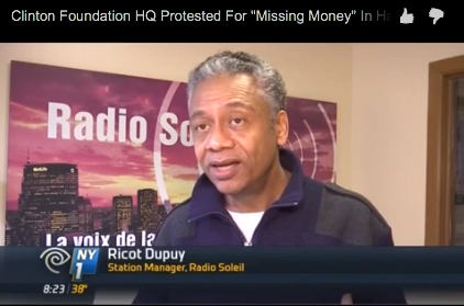 Protesters Gather at Clinton Foundation to Complain of 'Missing Money' from Haiti Recovery
