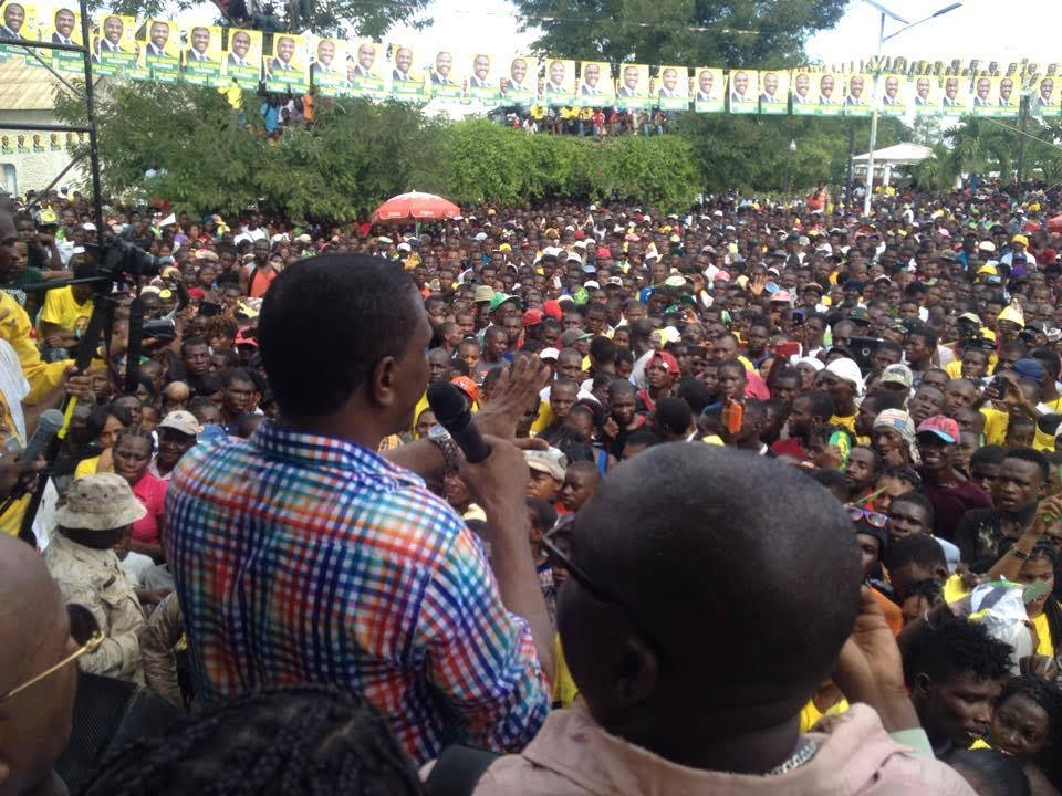 JUDE CELESTIN KICKS OFF CAMPAIGN WITH BIG RALLY IN HINCHE – ATTACKS MARTELLY GOVERNMENT