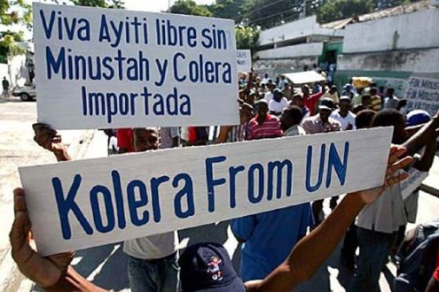 OVER 1000 DEMONSTRATE IN FRONT OF MINUSTAH HEADQUARTERS – UN GO HOME!!!