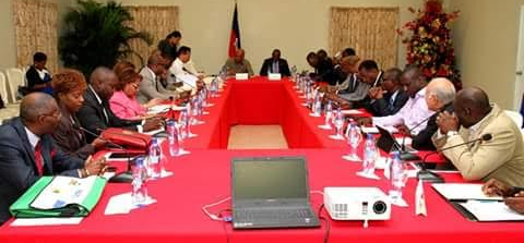 MARTELLY HAS CABINET IN MARATHON SESSION AS OPPOSITION ATTEMPTS TO DESTROY NATION