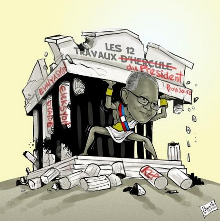 Calendrier d'Exécution de l'Accord pour la Continuité Institutionnelle par Stanley Lucas (Karikati Bousiko sou Nouvelliste)