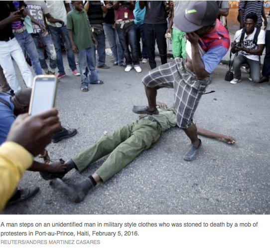 Haiti protesters stone man to death as political crisis deepens