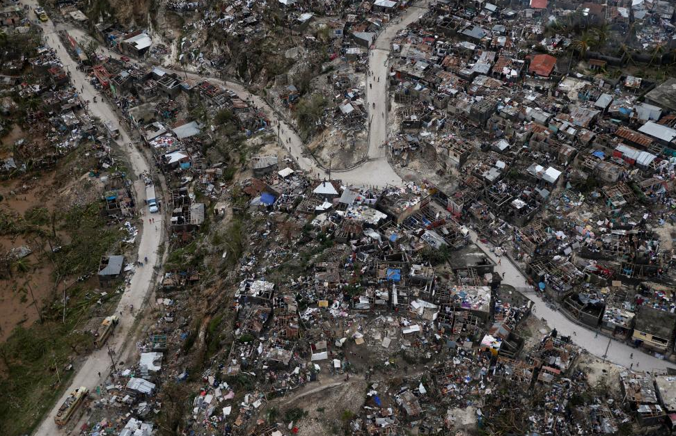 As we brace for Hurricane Matthew to hit the U.S., click below for a Reuters slideshow of 34 images showing the destruction the storm left behind in Haiti.