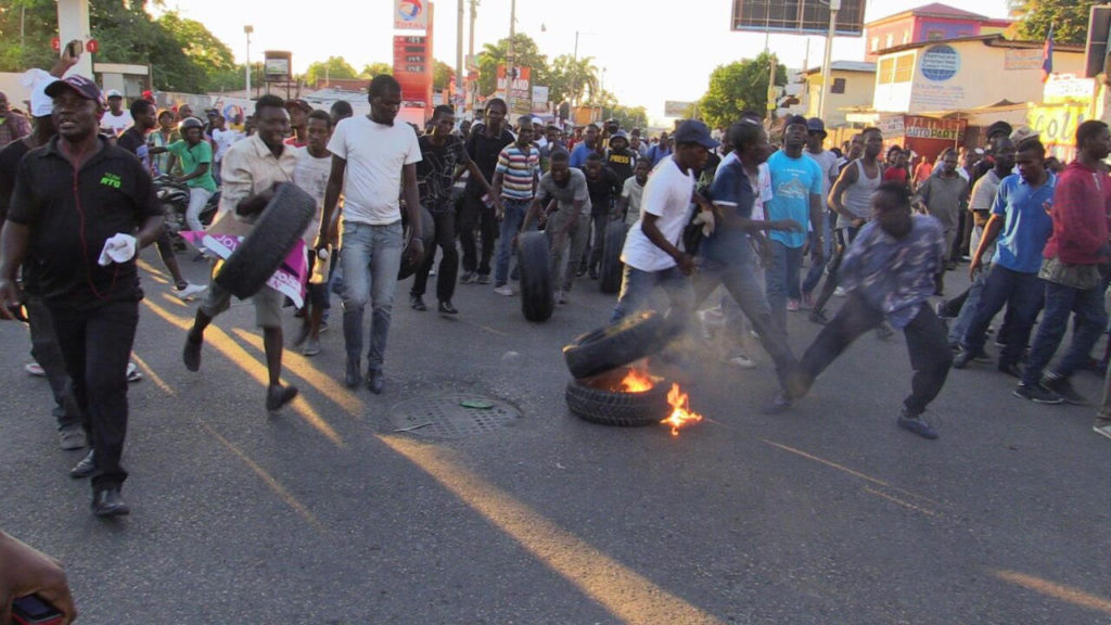 PAID ARISTIDE TERRORISTS SMASH PROPERTY – CANNOT BE CALLED A POLITICAL DEMONSTRATION