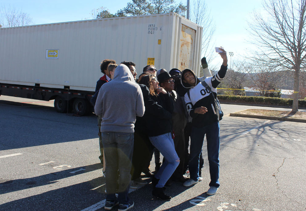 Shipping containers arrive for Marietta City Schools' Haiti project