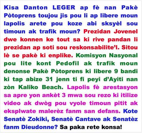 DANTON LEGER AK TRAFIK TI MOUN
