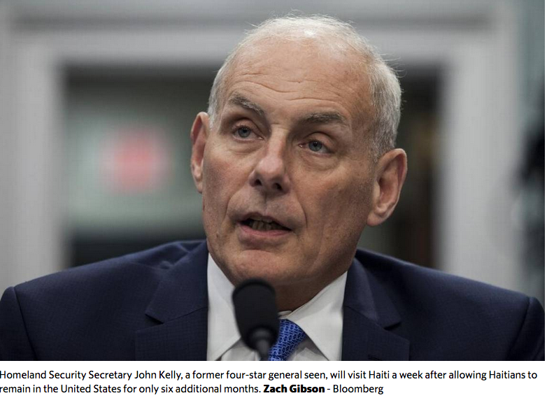 Will four hours in Haiti influence Homeland Security Secretary Kelly on TPS?