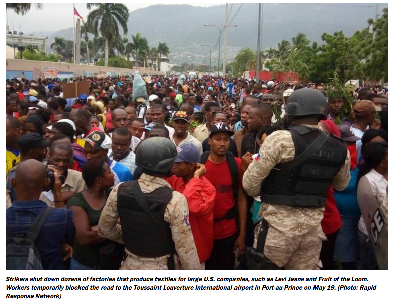Thousands of Haitian Workers Are on Strike Against Foreign-Owned Sweatshops- Added COMMENTARY By Haitian-Truth