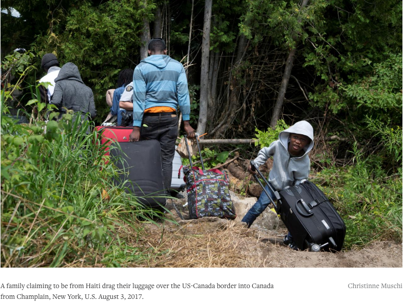 Haitian asylum seekers, fearing U.S. deportation, pour into Canada