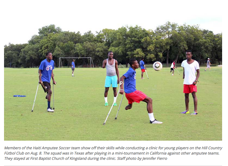 Haitian Amputees Bring Inspiring Stories, Soccer Skills to Highland Lakes