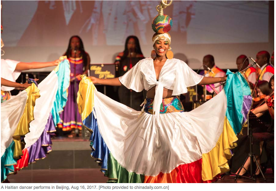 Haitian folk dance troupe holds debut show in Beijing