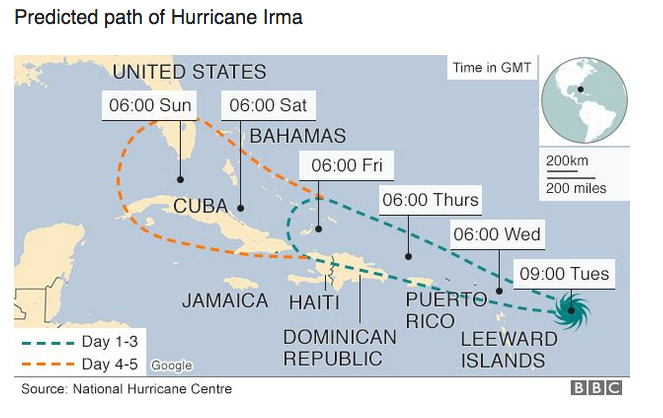 Hurricane Irma: Caribbean braces for 'extremely dangerous' storm