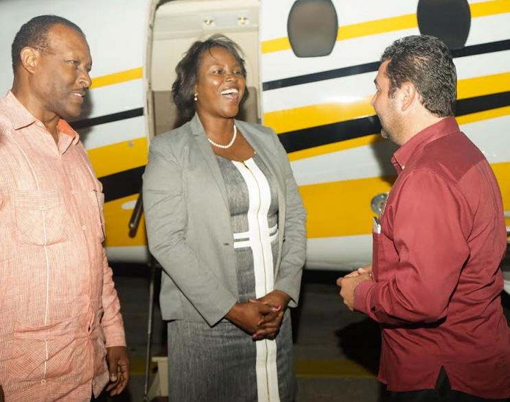 La première dame à Bélize pour soutenir les luttes des femmes d'Haïti et de la Caraïbe