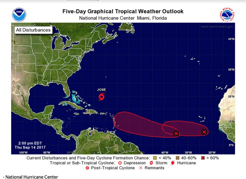 2 Atlantic disturbances likely to develop: National Hurricane Center