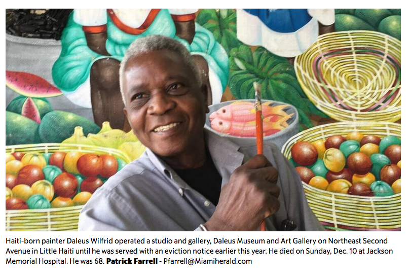 This Miami Haitian artist died struggling to pay rent. Did gentrification play a role?