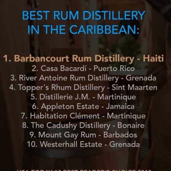 Le Rhum Barbancourt d'#Haiti, meilleur de la Caraïbe
