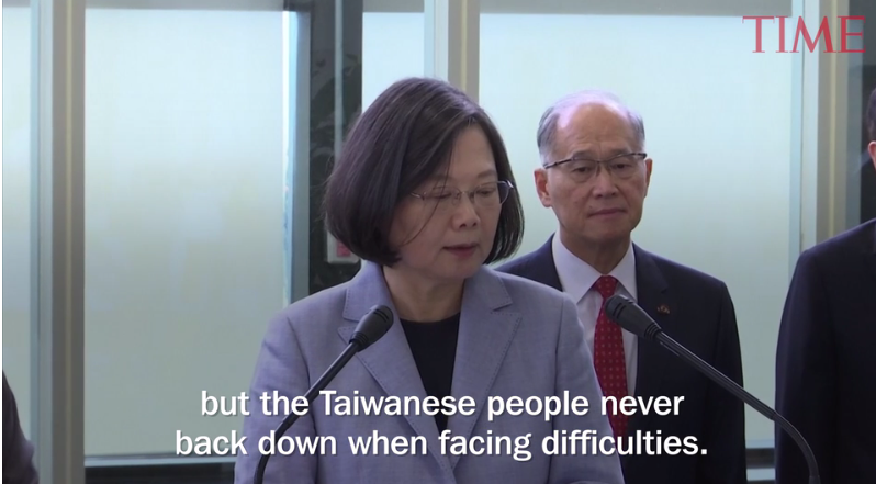 'No One Can Obliterate Taiwan's Existence.' President Tsai Ing-wen Defiant on U.S. Trip